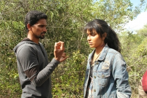 Director KR Vinoth & Actress Amala Paul Adho Andha Paravai Pola Movie Shooting Spot Images