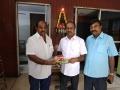 Producer Thenandal Studios Limited(TSL) Murali Ramaswamy @ Adirindi Movie Dubbing Stills