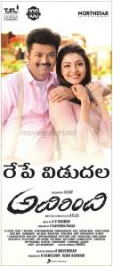 Vijay Kajal Agarwal Adirindhi Movie Release Tomorrow Posters