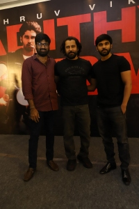 Gireesaaya, Vikram, Dhruv @ Adithya Varma Success Meet Stills