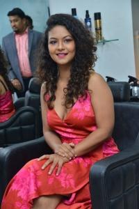 Telugu Actress Aditi Myakal Hot Stills @ Glam Studios Launch