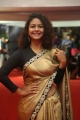 Actress Aditi Myakal Hot Saree Stills @ Mirchi Music Awards South 2017 Red Carpet