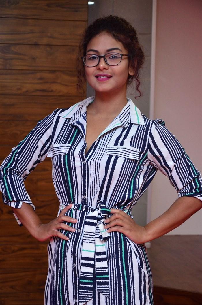 Actress Aditi Myakal Stills @ Ami Tumi 1st Song Launch