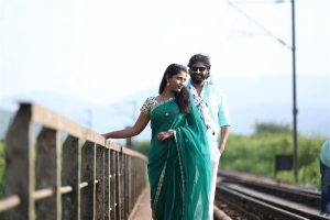 Kalpana, John in Adrushyam Movie Stills