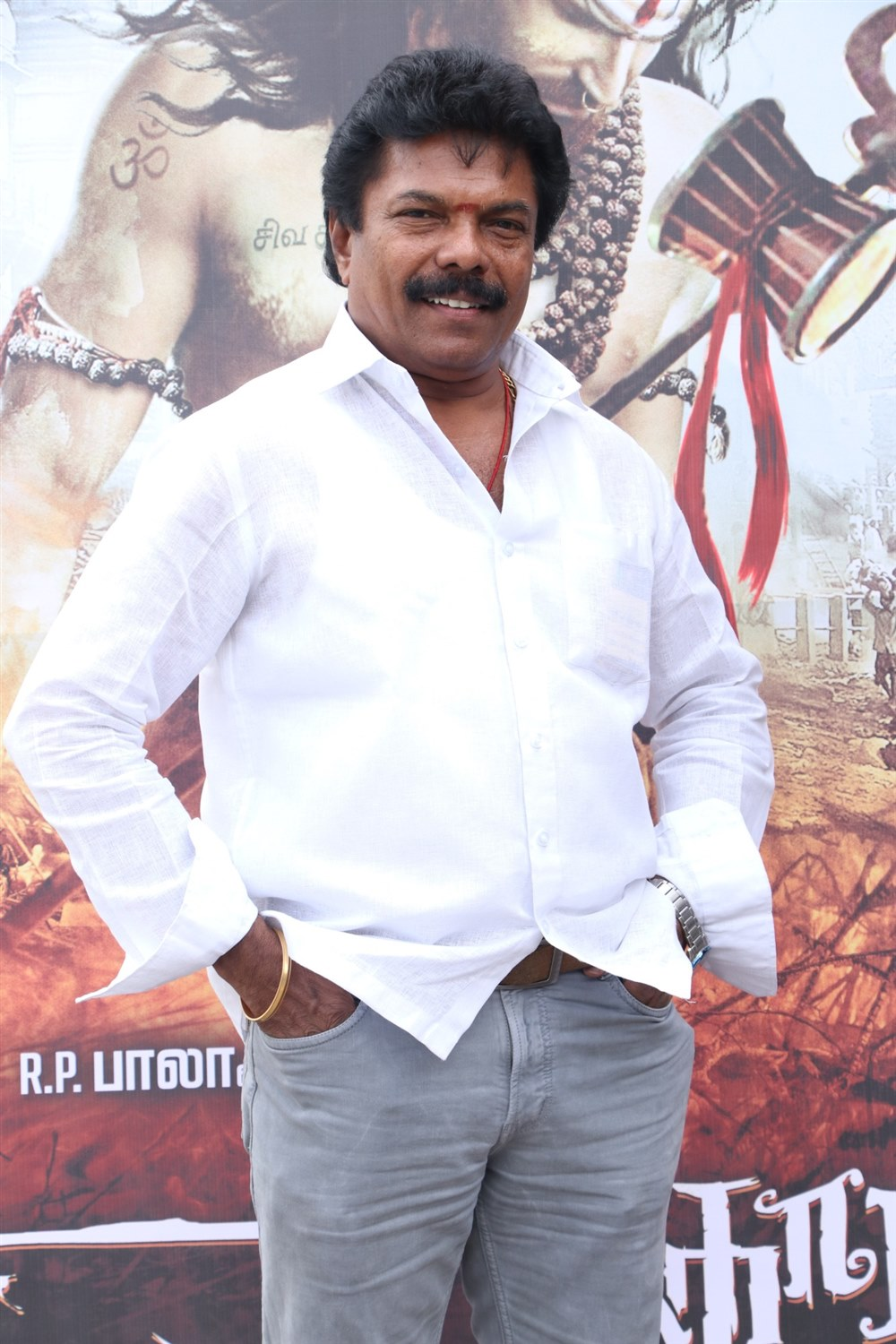 Jaguar Thangam @ Aghori Movie Launch Stills