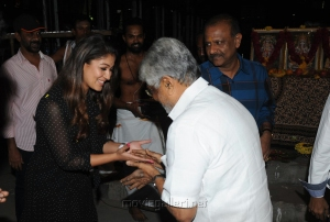 Nayanthara, Editor Mohan @ AGS Entertainent Production No 16 Pooja Stills
