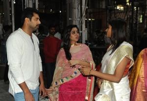 Jayam Ravi, Aarthi @ AGS Entertainent Production No 16 Pooja Stills
