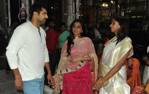 Jayam Ravi and his wife Aarthi @ AGS Entertainent Production No 16 Pooja Stills