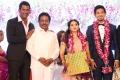 Actor Rajesh @ Vishal sister Aishwarya Wedding Reception Stills
