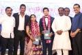 Former mayor M Subramanian, Vairamuthu @ Vishal sister Aishwarya Wedding Reception Stills