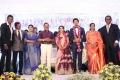 Sivakumar, Janaki Devi, GK Reddy @ Vishal sister Aishwarya Wedding Reception Stills