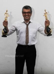 Ajith Receiving 6th Annual Vijay Tv Awards 2012