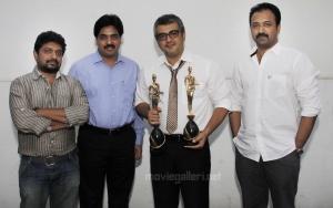 Ajith Kumar receives Best Villain & Favourite Actor Awards