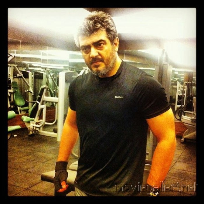 Ajith Kumar's Latest GYM Workout Stills