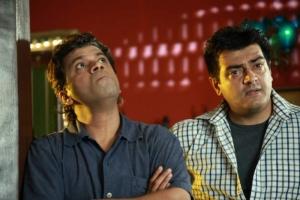Ajith, Yog Jaypee in Billa 2 Tamil Movie Stills