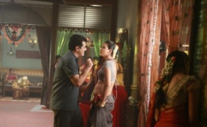 Ajith, Meenakshi Dixit in Billa 2 Movie Hot Stills