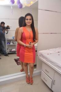 Aksha Pardasani Hot Photos in Dark Orange Red Short Dress
