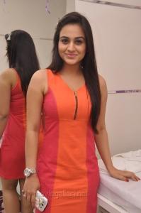 Aksha Pardasany Hot Photos in Moderate Bright Red Short Dress