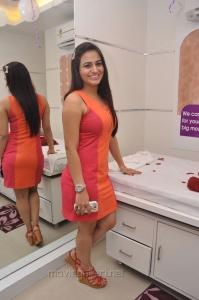 Actress Aksha Hot Photos in Moderate Bright Red Short Dress