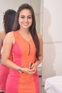 Aksha Pardasani Hot Photos in Dark Moderate Red Short Dress