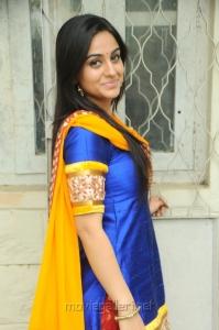 Actress Aksha Pardasany Hot Photos in Blue Salwar