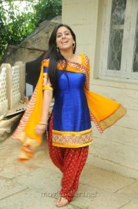 Actress Aksha Pardasany Hot Photos in Blue Churidar