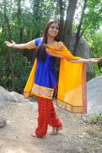 Aksha Pardasany Hot Photos in Blue Churidar Yellow Dupatta