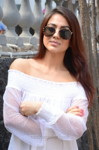 Actress Aksha New Pics in White Dress