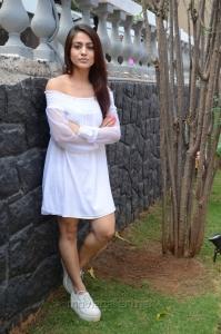 Telugu Actress Aksha New Pics in White Dress