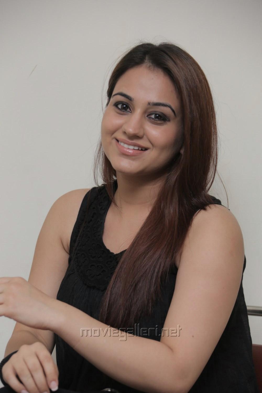 Actress Aksha Pardasany Latest Stills in Sleeveless Black Dress