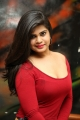 Actress Alekhya Angel Red Dress Hot Photos