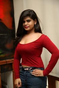 Actress Alekhya Angel Hot Photos in Red Dress