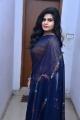 Actress Alekhya Angel Navy Blue Saree Pics @ Samajaniki Hecharika Movie Opening