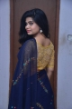 Actress Alekhya Hot in Navy Blue Saree Pics