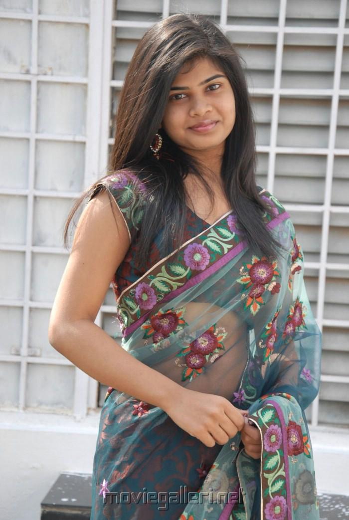 Alekhya Hot in Transparent Saree Images at Aa Aiduguru Opening