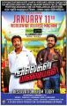 Santhanam, Karthi in Alex Pandian Movie Release Posters