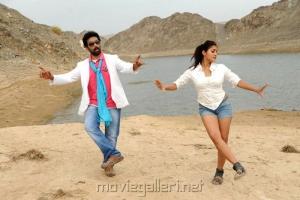 JD Chakravarthy, Anisha Singh in All The Best Movie Hot Stills