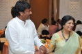 Chiranjeevi with Wife Surekha at Allu Aravind Family's Dinner Party Stills