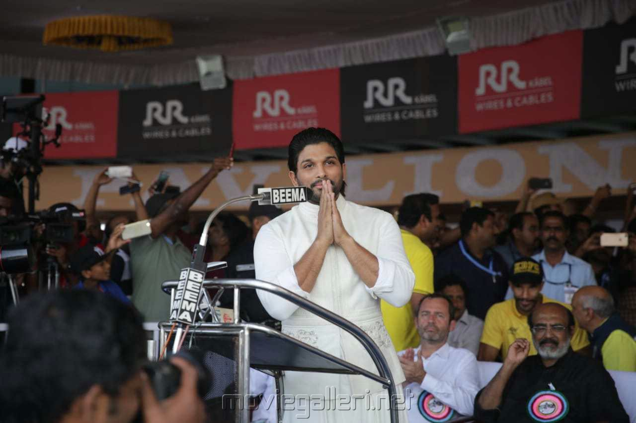 Actor Allu Arjun @ 66th Nehru Trophy Boat Race 2018 Vembanad Alappuzha Kerala Photos