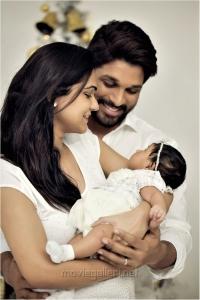 Actor Allu Arjun - Sneha Reddy's Daughter Allu Arha Photo