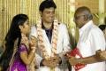 SP Muthuraman at ALS Nachiappan Son Wedding Reception Photos
