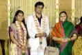 Actor Nassar wife Kameela at ALS Nachiappan Son Wedding Reception Photos