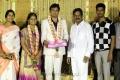 Kalaipuli S Thanu at ALS Nachiappan Son Wedding Reception Photos