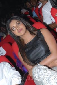 Amala Paul in Sleeveless Black Dress at Iddarammayilatho Audio Release