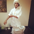 Actress Amala Paul  in White Lungi Pictures