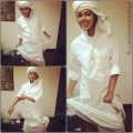 Actress Amala Paul  in White Lungi Dance Pictures
