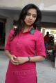 Amala Paul Hot Looking Stills in Pink Cotton Kurta Dress