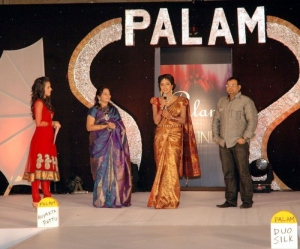 Amala Paul in Saree @ Palam Silks Fashion Show