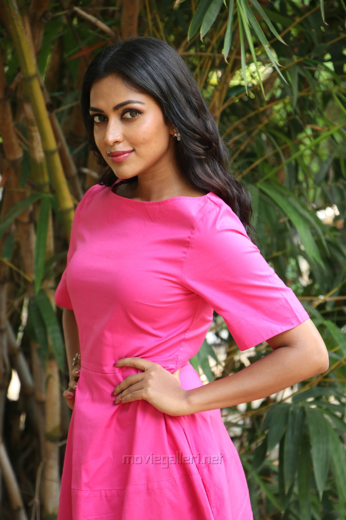 Tamil Actress Amala Paul Recent Pictures HD in Pink Dress