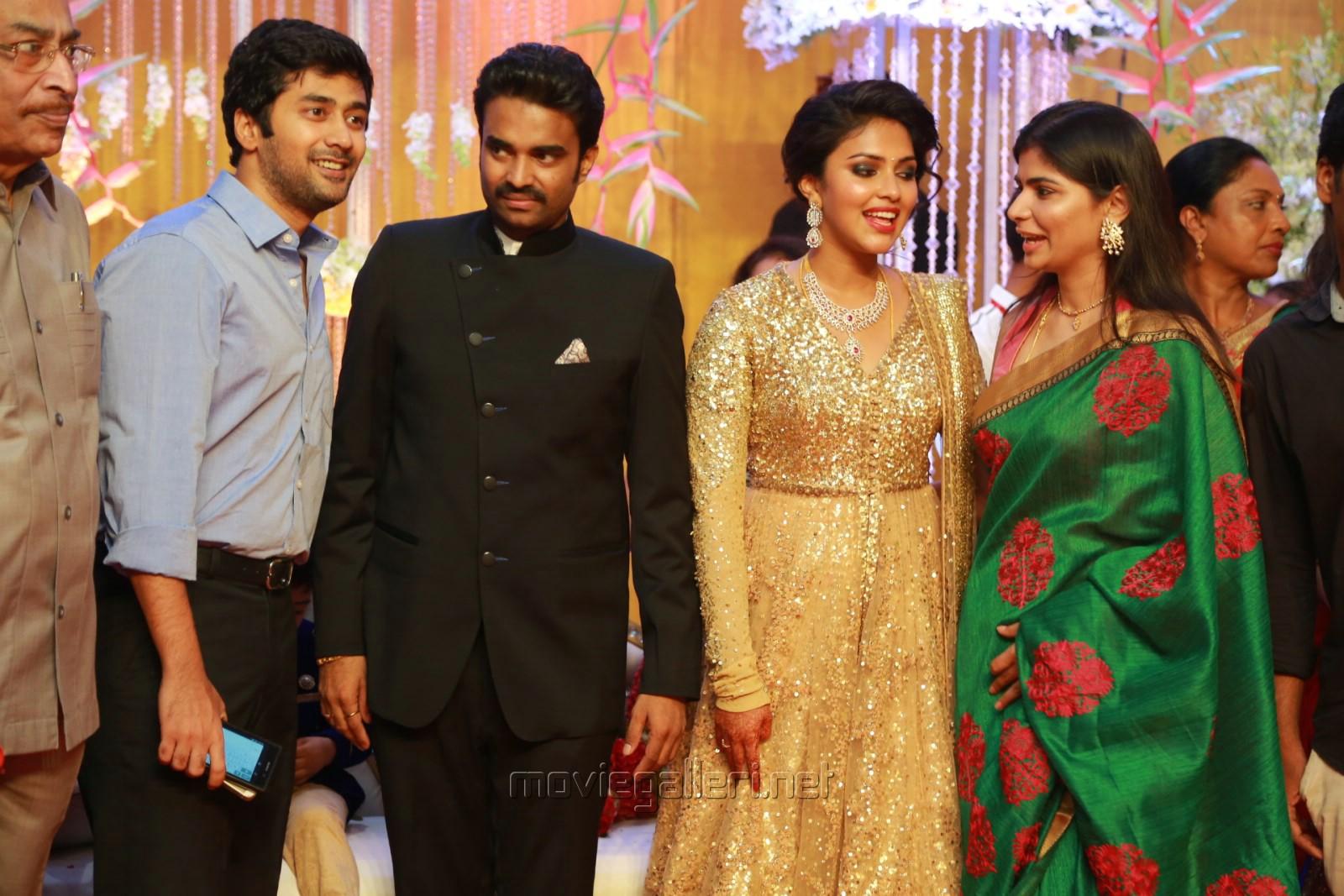Rahul Ravindran Chinmayi Actress Amala Paul Director Vijay Wedding Reception Stills